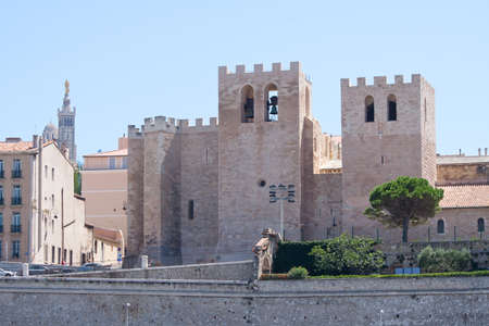 alpes: The Abbaye St. Victor, in Marseille, France Stock Photo