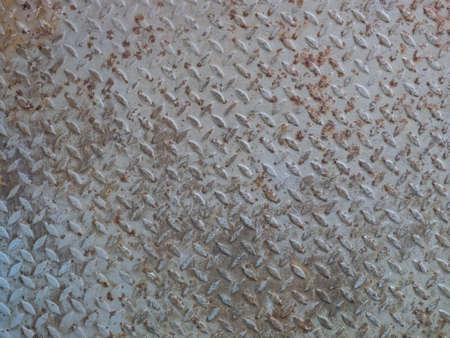 rusty diamond plate steel floor Stock Photo - 22274334