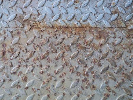 rusty diamond plate steel floor Stock Photo - 22274355