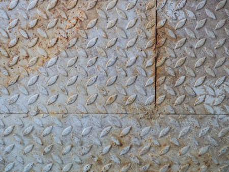 rusty diamond plate steel floor Stock Photo - 22274335