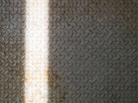 rusty diamond plate steel floor Stock Photo - 22274538