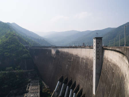 bhumibol dam biggest concrete dam in thailand photo