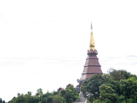 naphamethanidon pagoda at Inthanon national park, chiangmai, thailand photo