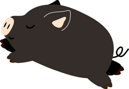 This is a pig illustration.