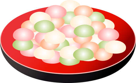 This is a Japanese sweets illustration.