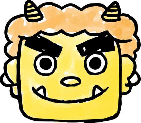 Ceci est une illustration d'un démon japonais peint par HND.