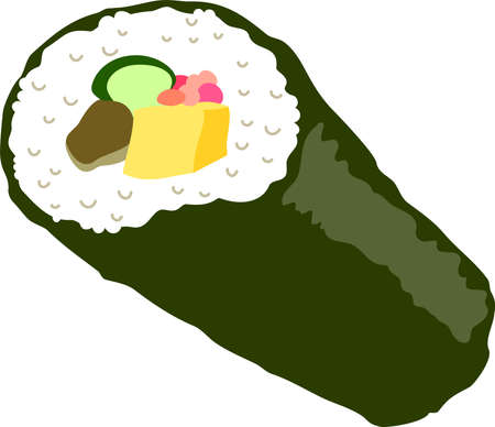 This is an illustration of Sushi roll called Ehomaki. 向量圖像