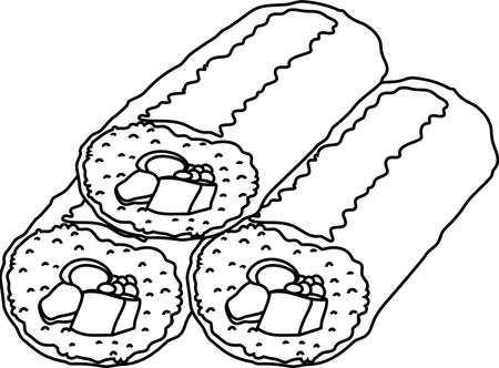 This is an illustration of Sushi roll called Ehomaki.  イラスト・ベクター素材