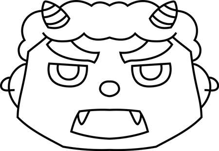 This is an illustration of a demon that appears in a Japanese event called Setsubun. Фото со стока - 116078617