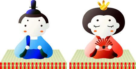 This is dolls used in Japanese festivals called Hinamatsuri.