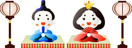 Ce sont des poupées utilisées dans les festivals japonais appelés Hinamatsuri.