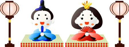 This is dolls used in Japanese festivals called Hinamatsuri.