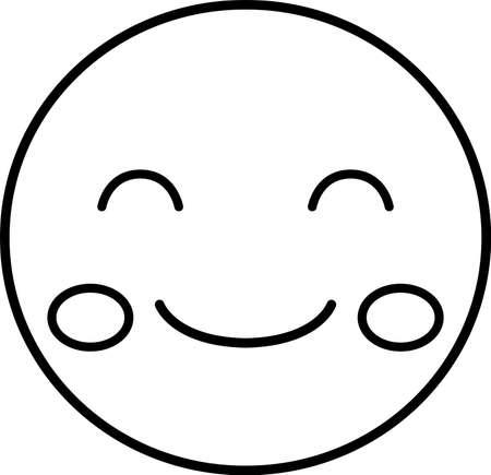 Questa è un'illustrazione dell'espressione del viso pop.