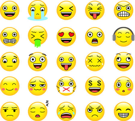 This is an illustration of pop face expression. Stock Vector - 116083961