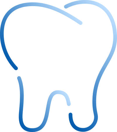 This is an illustration icon of a stylish tooth. Standard-Bild - 116084128