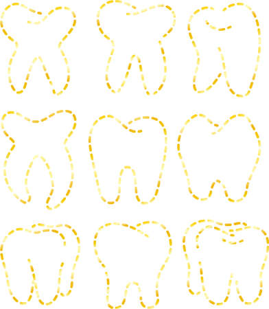 This is an illustration icon of a stylish tooth.