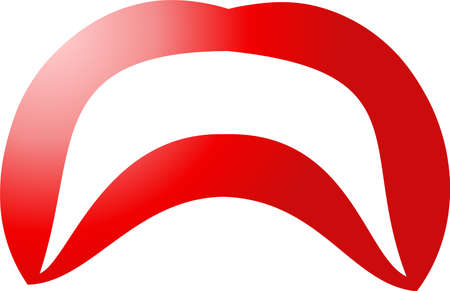 This is an illustration of an attractive ladys lips.