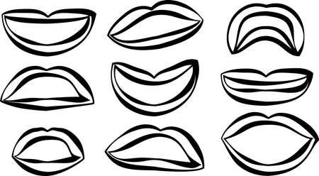 This is an illustration of an attractive lady's lips. Stockfoto - 116087499