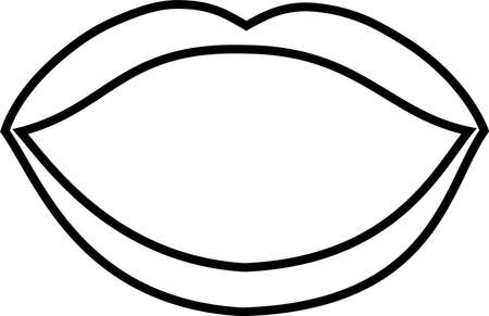 This is an illustration of an attractive lady's lips. Stockfoto - 116087508