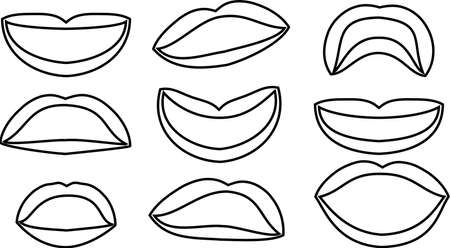 This is an illustration of an attractive lady's lips. Stockfoto - 116087510