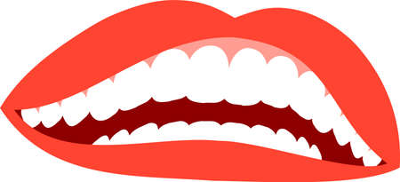 This is an illustration of an attractive lady's mouth. Standard-Bild - 116087528