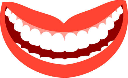 This is an illustration of an attractive lady's mouth. Standard-Bild - 116087530