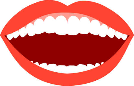 This is an illustration of an attractive lady's mouth. Standard-Bild - 116087533