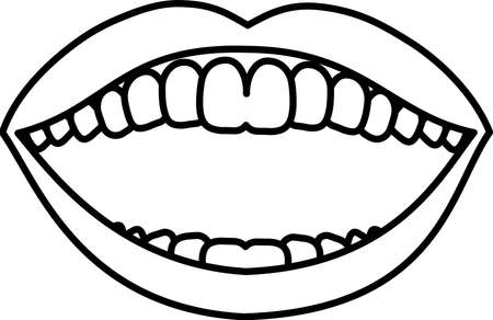 This is an illustration of an attractive lady's mouth. Stockfoto - 116087535