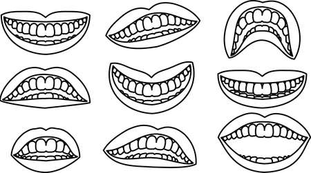 This is an illustration of an attractive ladys mouth.