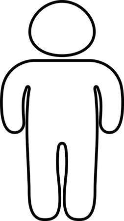 This is a silhouette icon of a person on a diet. Vectores