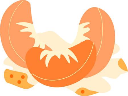 This is an illustration of Mandarin orange.