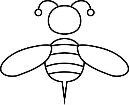 This is an illustration icon of a bee.