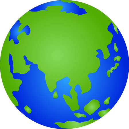 This is an illustration icon of the earth.