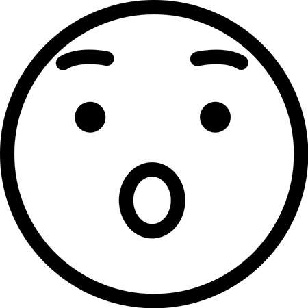 This is a simple face icon with various facial expressions.