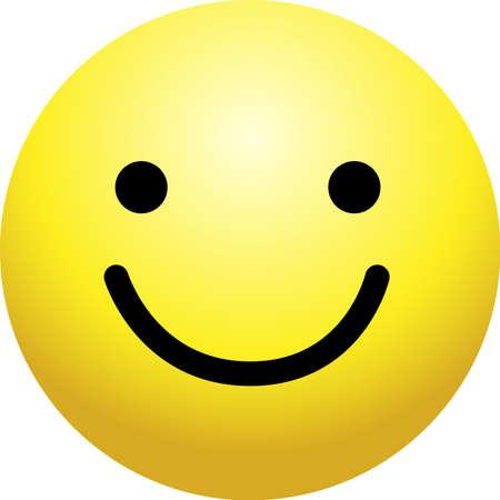 Dies ist ein einfaches Gesichtssymbol mit verschiedenen Gesichtsausdrücken. Vektorgrafik