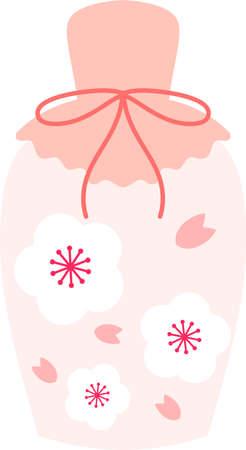 This is an illustration of Japanese sweet sake called Amazake.