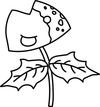This is an illustration of a Japanese amulet called Iwashihiiragi. 일러스트