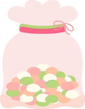 This is an illustration of snacks that can be eaten at a Japanese festival called Hinamatsuri.