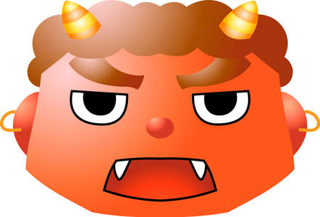 This is an illustration of a demon that appears in a Japanese event called Setsubun.