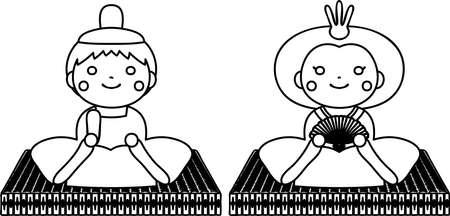 Se trata de muñecos y tatami utilizados en festivales japoneses llamados Hinamatsuri.