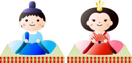 This is dolls and tatami used in Japanese festivals called Hinamatsuri.