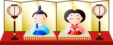 This is Gorgeous dolls used in Japanese festivals called Hinamatsuri.
