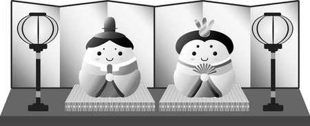 Se trata de muñecas preciosas utilizadas en festivales japoneses llamados Hinamatsuri.