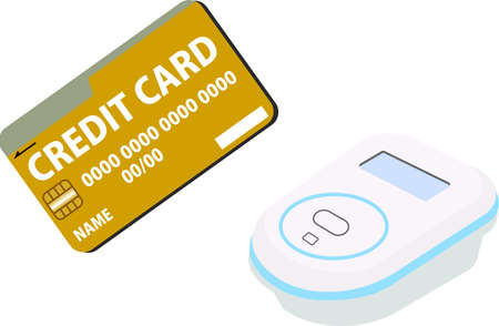 This is an illustration of the electronic money payment by Credit Card.