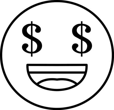 This is an illustration of pop face expression.