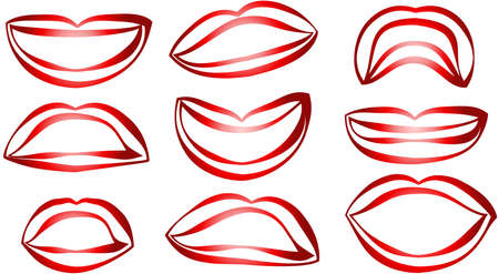 This is an illustration of an attractive lady's lips.