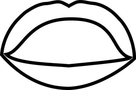 This is an illustration of an attractive lady's lips. Stockfoto - 116133449