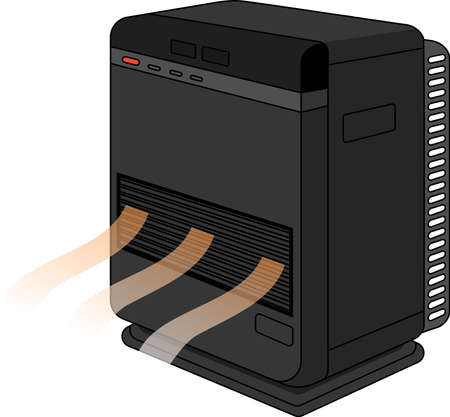 This is an illustration of an oil heater.