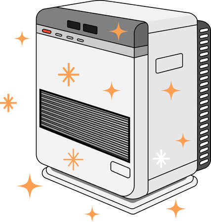 This is an illustration of an oil heater. Stockfoto - 116133525