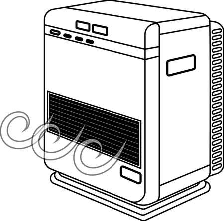This is an illustration of an oil heater. Stockfoto - 116133532